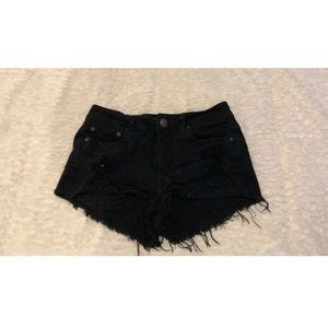 American Eagle Distressed Black Shorts